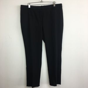 NWT J Crew Black Cropped Trousers in Wool Crepe
